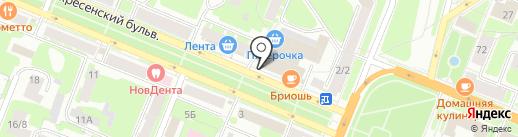 НС банк на карте Великого Новгорода