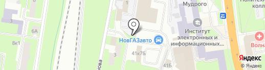 Новстим на карте Великого Новгорода