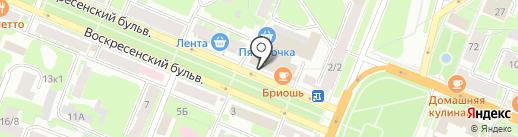 Старпигс, ЗАО на карте Великого Новгорода