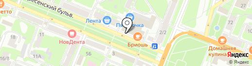 N студия на карте Великого Новгорода