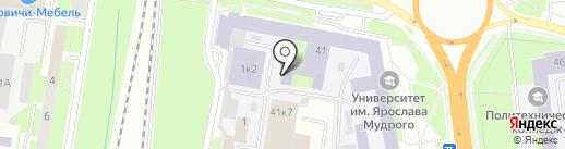 Новгородский технопарк на карте Великого Новгорода