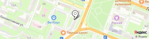 Банкомат, Северо-Западный банк Сбербанка России на карте Великого Новгорода