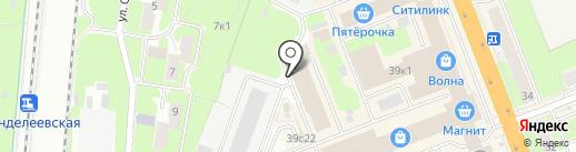 Автобат на карте Великого Новгорода