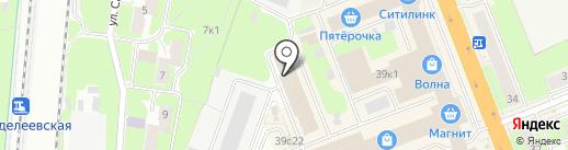 Диван-Банан на карте Великого Новгорода