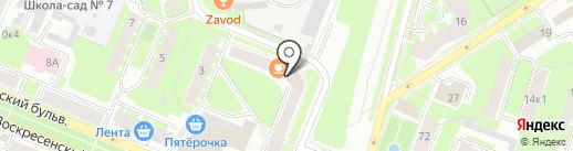 Профсервис на карте Великого Новгорода