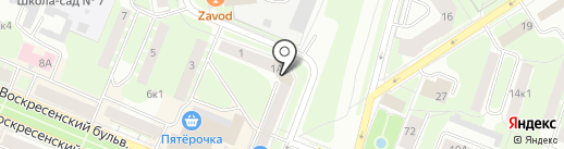 Канцофис на карте Великого Новгорода