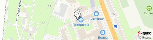 Модница на карте Великого Новгорода