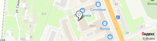 Комфортстрой на карте Великого Новгорода