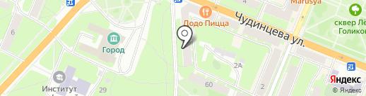 Трюфель на карте Великого Новгорода