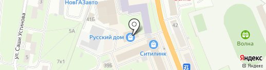 Хорошие обои на карте Великого Новгорода
