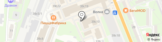 ТОНУС-ЛАЙН на карте Великого Новгорода