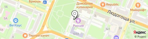Новгородский областной киносервис на карте Великого Новгорода