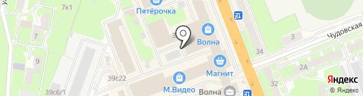 Комплектум на карте Великого Новгорода