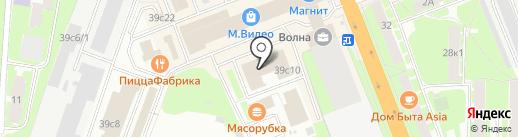 Оптика Черника на карте Великого Новгорода
