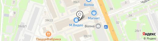 Jaguar на карте Великого Новгорода