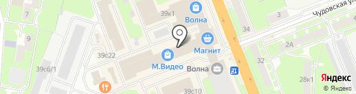 Много мебели на карте Великого Новгорода
