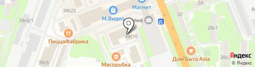 Вардек на карте Великого Новгорода