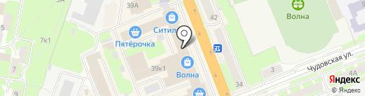 МЕТРОЛОГ на карте Великого Новгорода