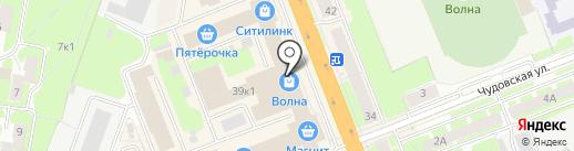 Галерея на карте Великого Новгорода
