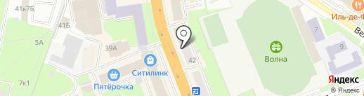 Свадебный Мир на карте Великого Новгорода