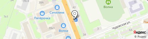 Деньги в руки на карте Великого Новгорода