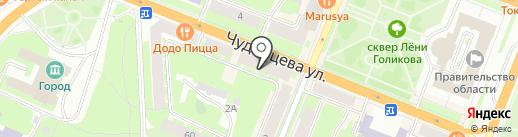 Скрепка+ на карте Великого Новгорода