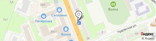 Золотой на карте Великого Новгорода