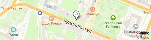 Комильфо на карте Великого Новгорода