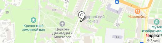 Зефир на карте Великого Новгорода