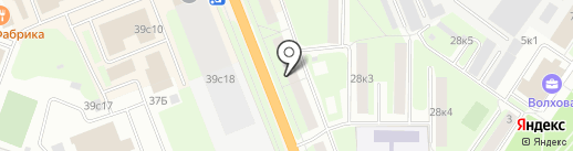 Кинза на карте Великого Новгорода