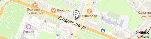 Русский букет на карте Великого Новгорода