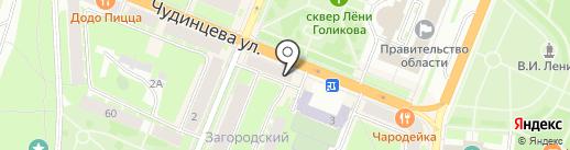Удобная обувь на карте Великого Новгорода