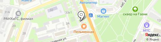 Новая Заря на карте Великого Новгорода
