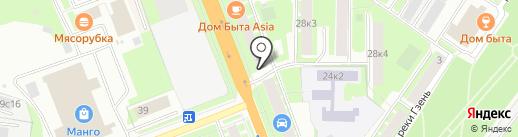 ТриколорТВ на карте Великого Новгорода