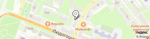 Белорусочка на карте Великого Новгорода