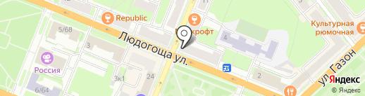 Милен на карте Великого Новгорода