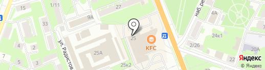LES на карте Великого Новгорода