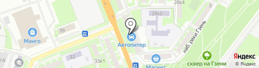 Оконная мануфактура на карте Великого Новгорода