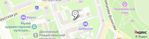 Государственный НИИ озерного и речного рыбного хозяйства на карте Великого Новгорода