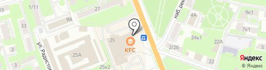 KFC на карте Великого Новгорода