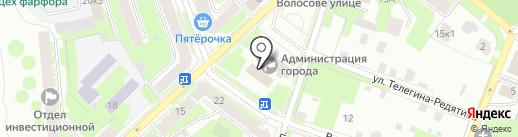 Комитет финансов на карте Великого Новгорода