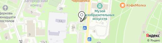 Естный на карте Великого Новгорода