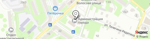 Управление делопроизводства на карте Великого Новгорода