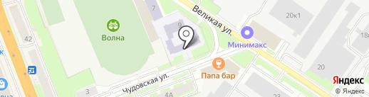 Средняя общеобразовательная школа №22 на карте Великого Новгорода