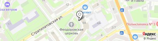 Кирик Новгородец на карте Великого Новгорода