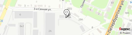 Алкон-Опт ПЛЮС на карте Великого Новгорода