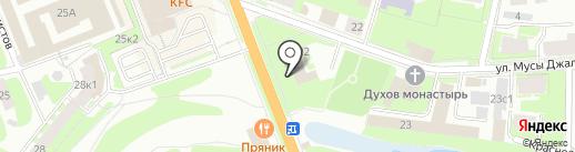 Банк Уралсиб, ПАО на карте Великого Новгорода