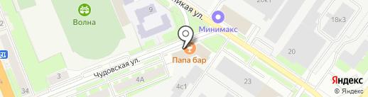 Железный папа на карте Великого Новгорода