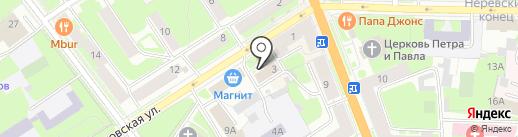 МФЦ, ГОАУ на карте Великого Новгорода