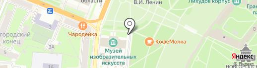 Стационарный пункт полиции на карте Великого Новгорода